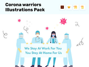 Corona-Warriors-illustrations