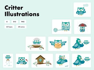 Critter-illustrations