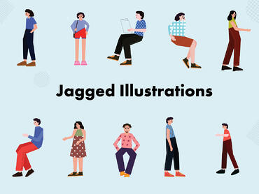 Jagged-illustrations
