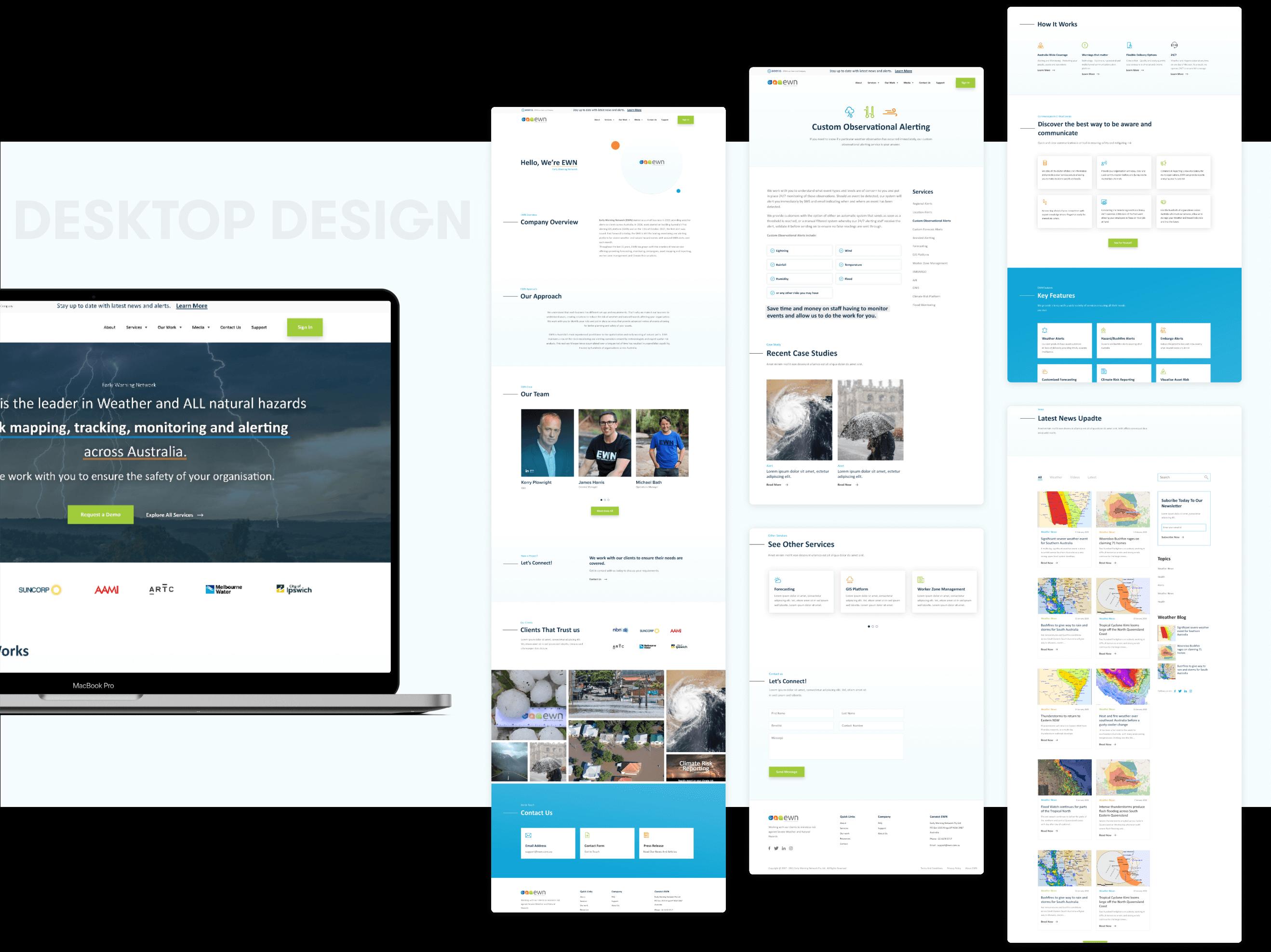 EWN Desktop | design and development by wow.design