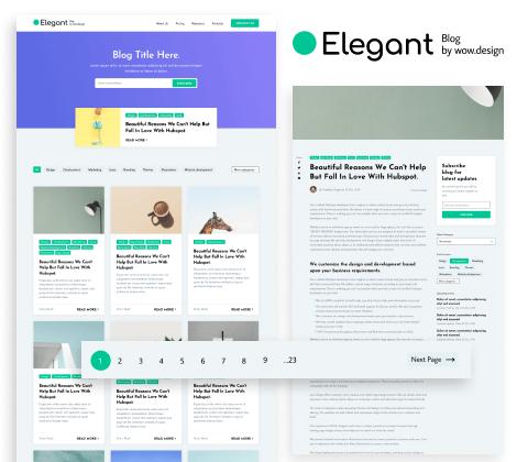Elegant Blog Cover