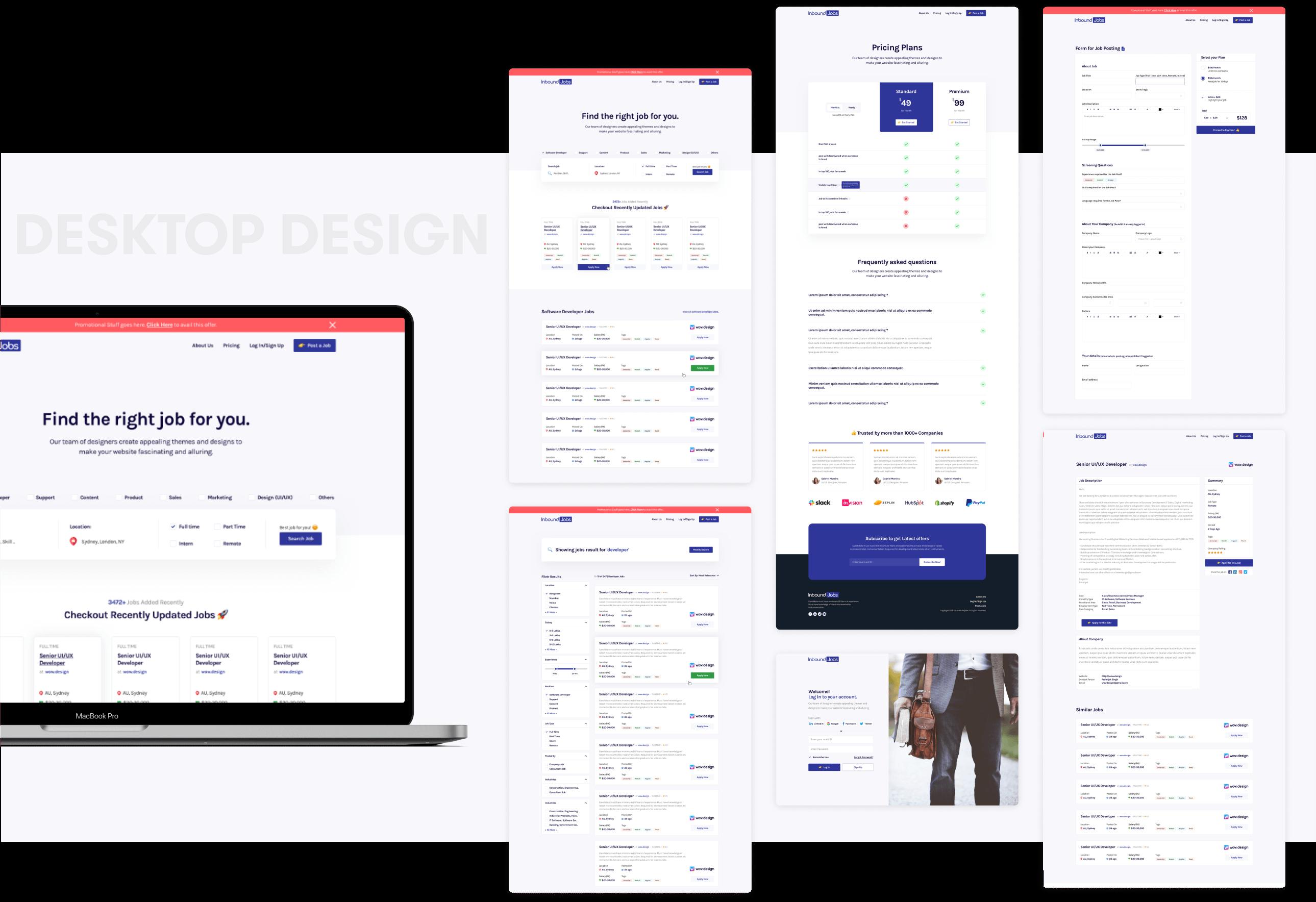 Job Board Desktop Design and Development by wowdesign