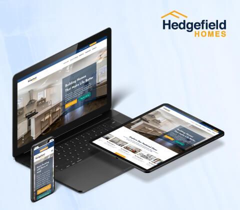 Hedgefield Homes Hubspot Website Design and Development