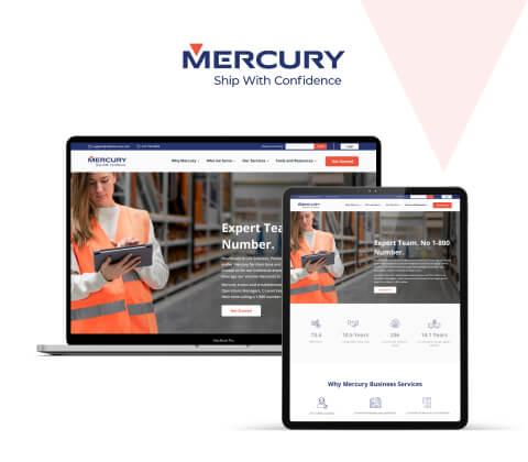 Mercury Hubspot Website Design and Development
