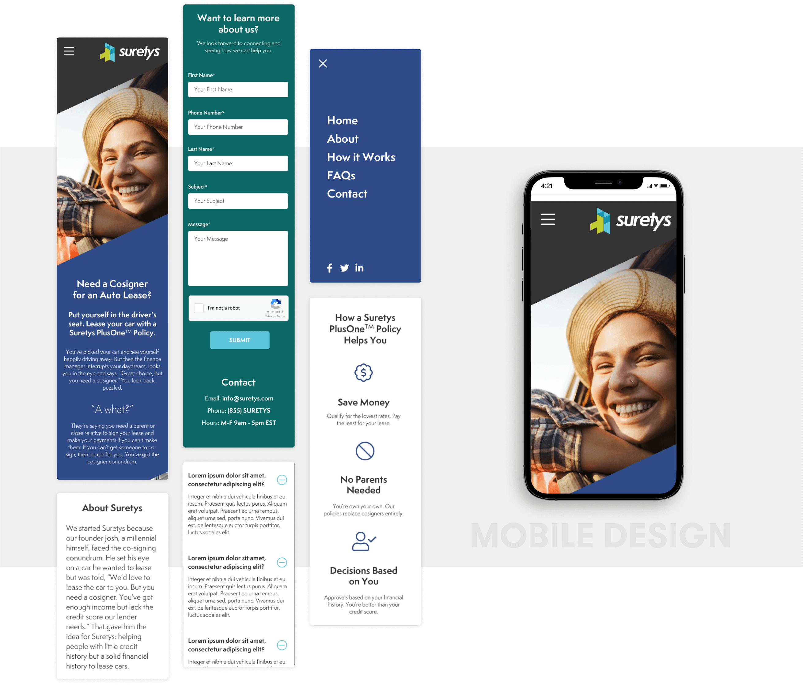Surteys Mobile Design and development by wow.design
