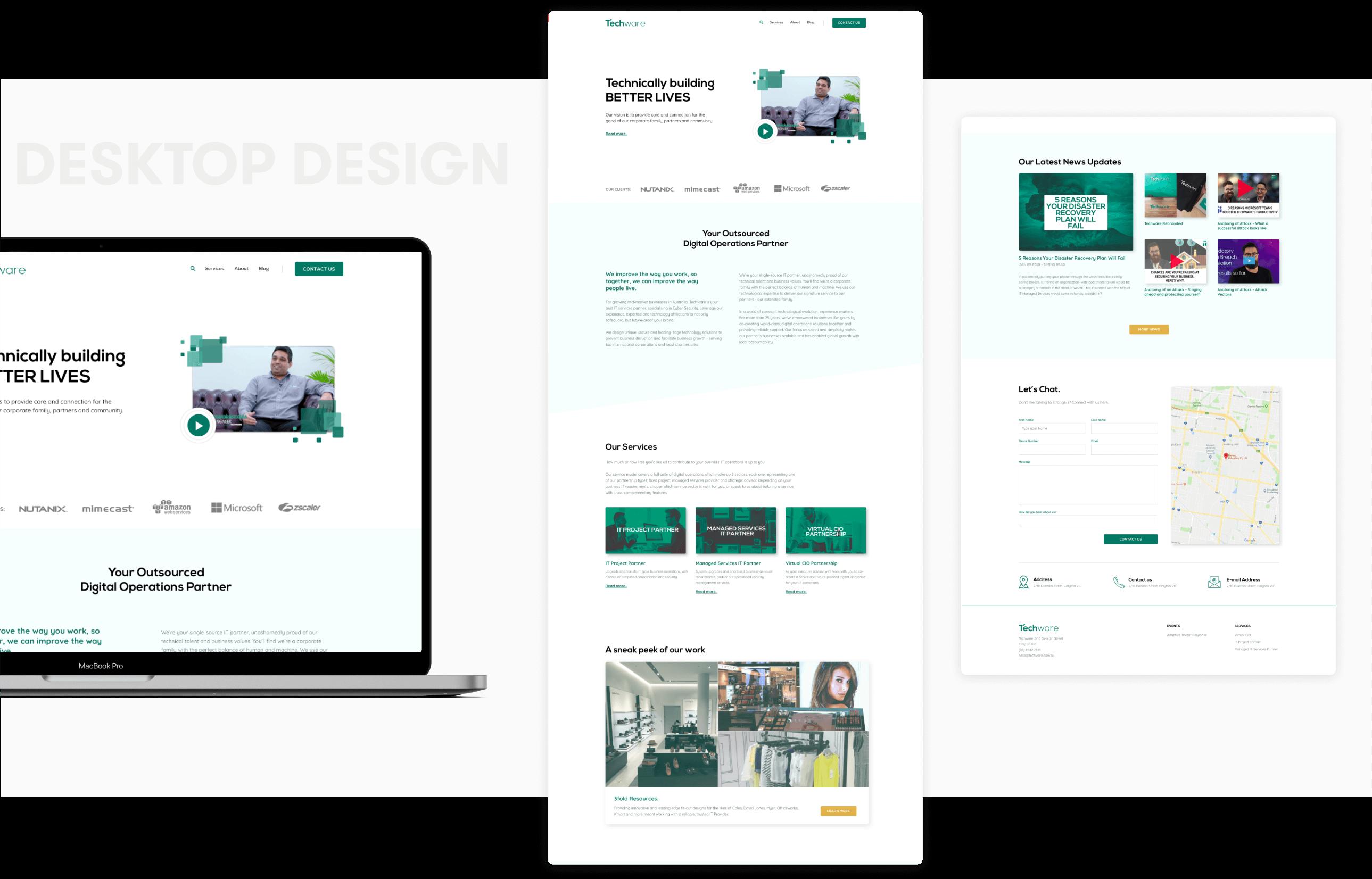 Techware Desktop | Design and development by wowdesign