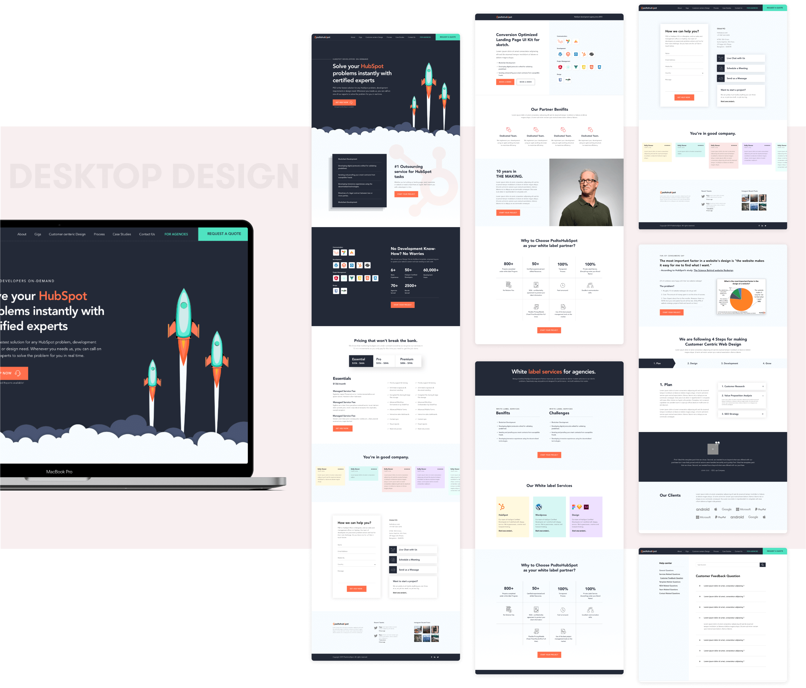 Psdtohubspot Design and development by wowdesign